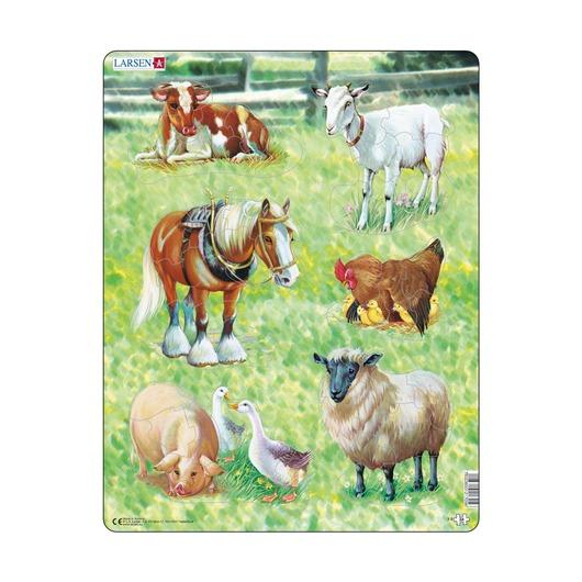 Пазл Домашние животные, 34 детали