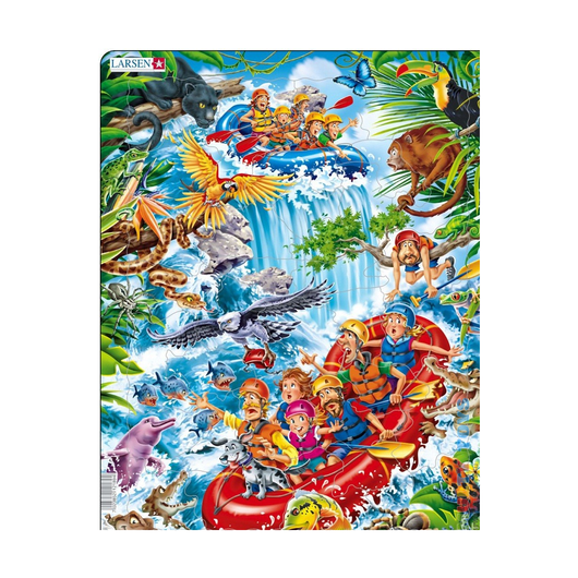 Пазл В джунглях Амазонки, 35 деталей