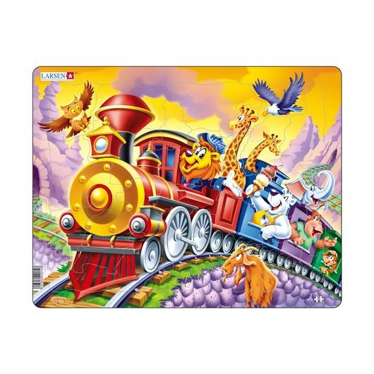 Пазл Поезд с цирком, 30 деталей