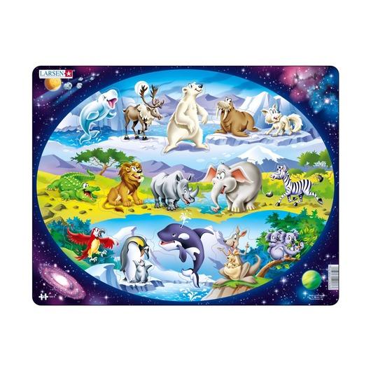 Пазл Планета животных, 15 деталей