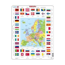 Пазл Карты и флаги Европы (русский), 70 деталей