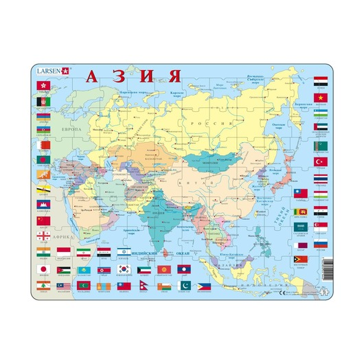 Пазл Азия (русский), 70 деталей
