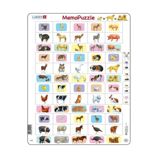 Мемопазл Животные с детёнышами, 40 деталей