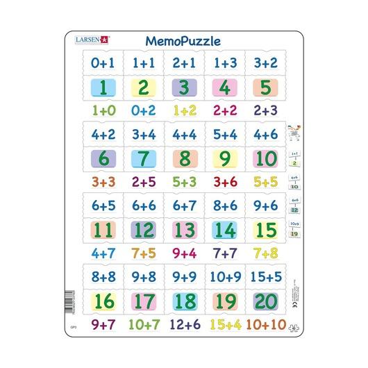 Мемопазл Числа 0-20, 40 деталей