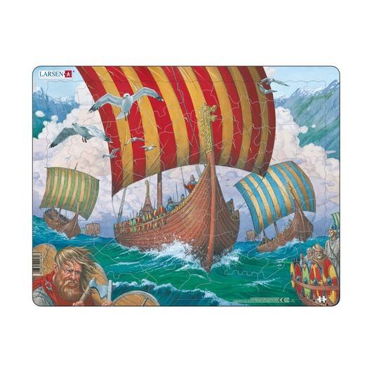 Пазл Корабли викингов, 64 детали