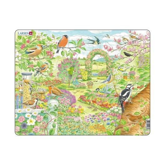 Пазл Птицы в саду, 60 деталей