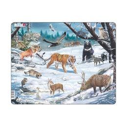 Пазл Животные Сибири и Дальнего Востока, 66 деталей