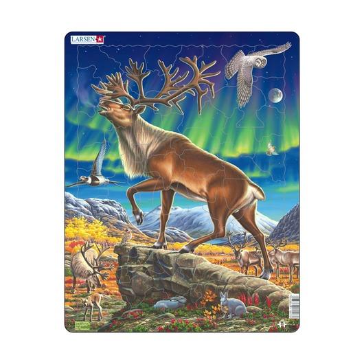 Пазл Северный олень, 60 деталей
