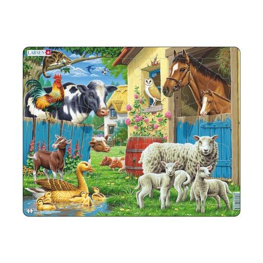 Пазл Животные фермы, 23 детали