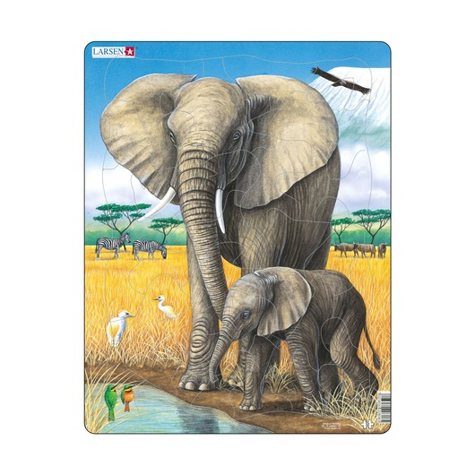 Пазл Слон, 32 детали