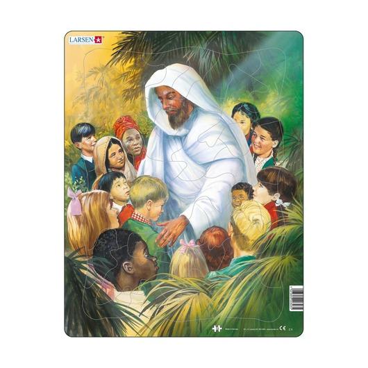 Пазл Иисус с детьми, 33 детали