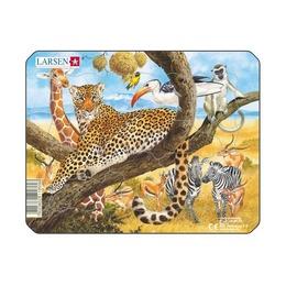 Пазл Леопард, 11 деталей