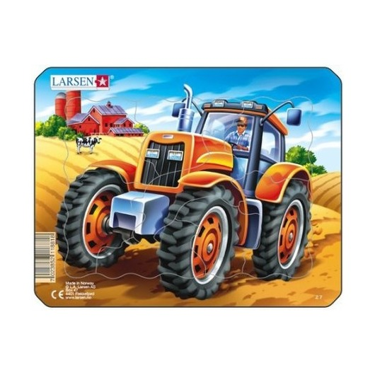 Пазл Трактор, 8 деталей