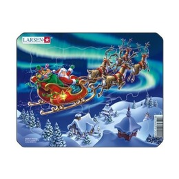 Пазл Санта Клаус, 6 деталей