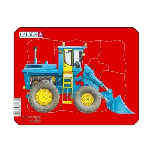 Пазл Трактор с ковшом, 10 деталей