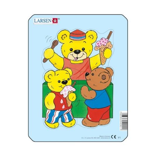 Пазл Медвежонок с ведёрком, 5 деталей