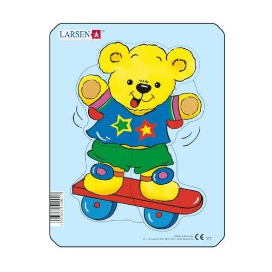 Пазл Медвежонок на скейте, 5 деталей