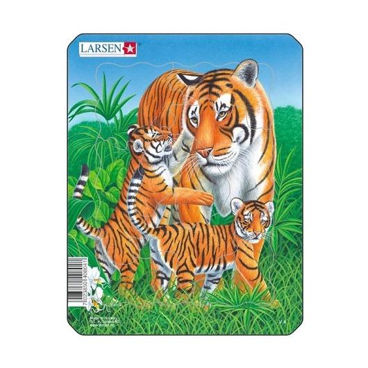Пазл Тигр, 8 деталей
