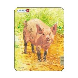 Пазл Рисунок свиньи, 5 деталей
