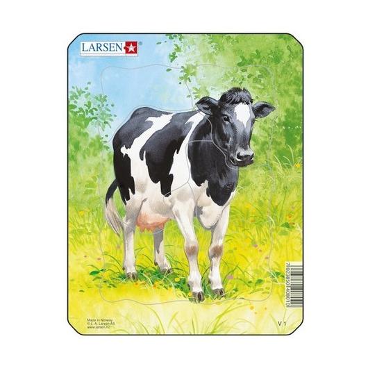 Пазл Рисунок коровы, 5 деталей