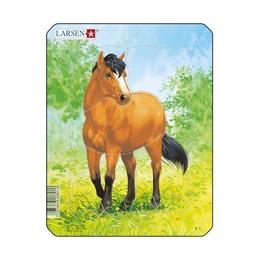 Пазл Рисунок лошади, 5 деталей