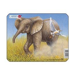 Пазл Слон, 9 деталей