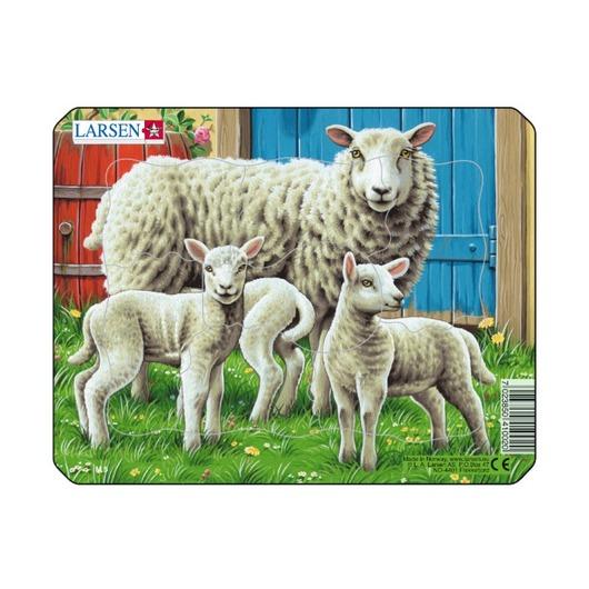 Пазл Овца с малышами, 7 деталей