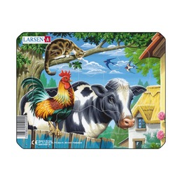Пазл Животные фермы, 7 деталей