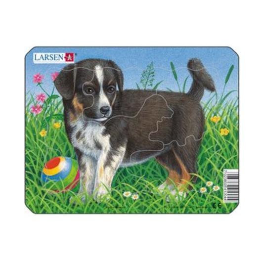 Пазл Собака с мячом, 6 деталей