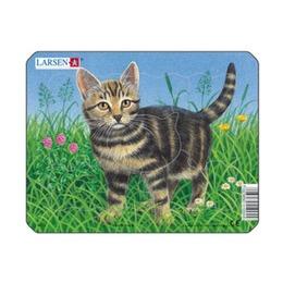 Пазл Кошка в траве, 6 деталей
