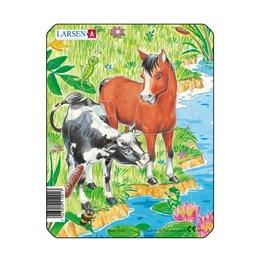 Пазл Лошадь и корова, 10 деталей