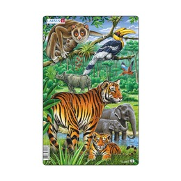 Пазл Животные Джунглей, 30 деталей