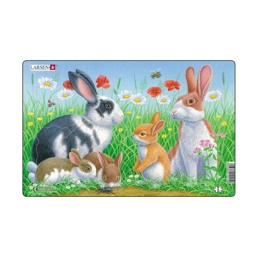 Пазл Семейство кроликов, 8 деталей