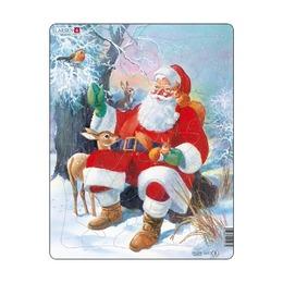 Пазл Санта с животными, 32 детали