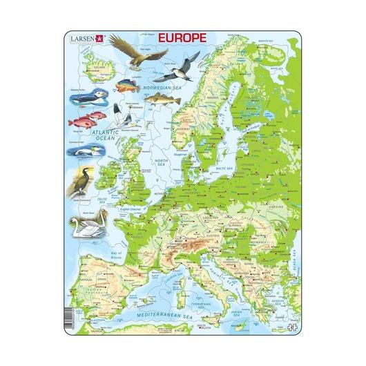 Пазл Европа (английский), 87 деталей