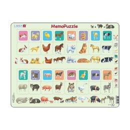 Мемопазл Животные с детёнышами, 36 деталей