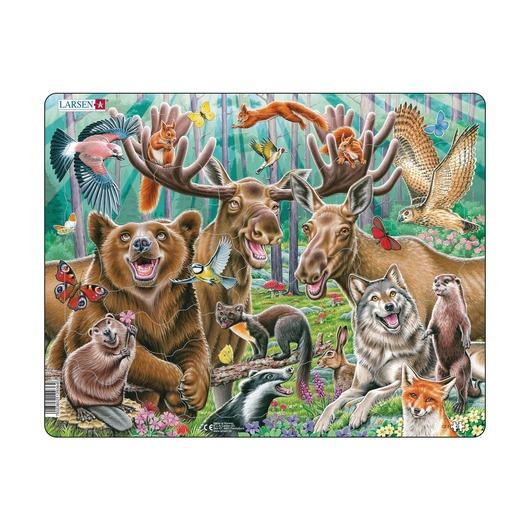 Лесные животные, 42 детали