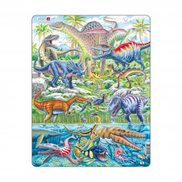 Летающие, прыгающие и ныряющие динозавры, 70 деталей