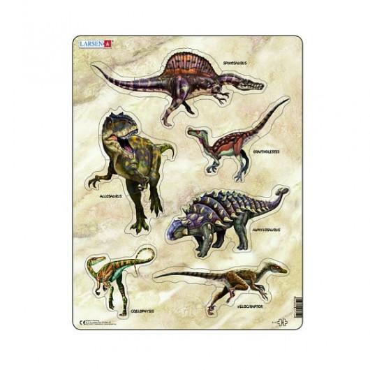 Пазл Динозавры, 30 деталей