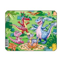 Пазл Рождение динозаврика, 7 деталей
