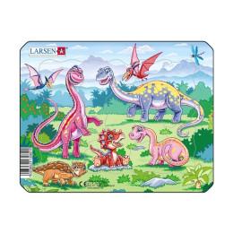 Пазл Малыш динозаврик, 7 деталей